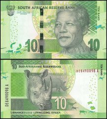 South Africa 10 Rand Banknote, 2013, P-138a, UNC
