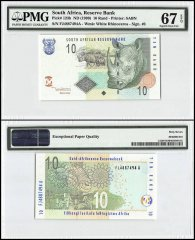 South Africa 10 Rand, 1999, P-123b, PMG 67