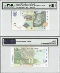 South Africa 10 Rand, ND 2005, P-128a, PMG 66