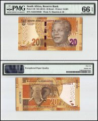South Africa 20 Rand, 2013, P-139, PMG 66