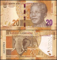 South Africa 20 Rand Banknote, 2015, P-139, UNC