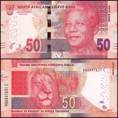 South Africa 50 Rand Banknote, 2015, P-140b, UNC