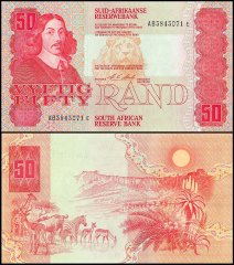 South Africa 50 Rands Banknote, 1990, P-122b, UNC