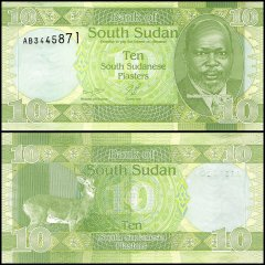 South Sudan 10 Piasters Banknote, 2011, P-2, UNC