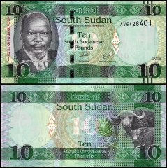South Sudan 10 Pounds Banknote, 2016, P-12b, UNC