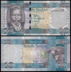 South Sudan 10 Pounds Banknote, 2011, P-7, UNC