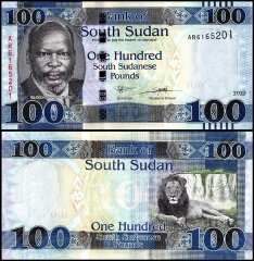 South Sudan 100 Pounds Banknote, 2019, P-15d, UNC