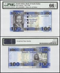 South Sudan 100 Pounds, 2015, P-15a, PMG 66