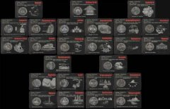 Sri Lanka 10 Com, 25 Piece Complete Coin Set, Districts of Sri Lanka, 2013