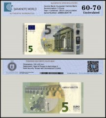 European Union - France 5 Euros Banknote, 2013, P-20u, UNC, TAP 60 - 70 Authenticated