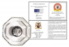 Uganda 20000 Shillings 28g CuNi Coin in Capsule, 2006, 40 Year Commemorative