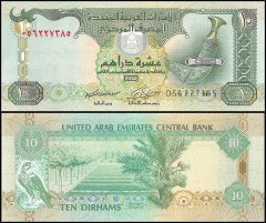 United Arab Emirates - UAE 10 Dirhams Banknote, 2009, P-27a, UNC