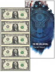United States of America - USA 1 Dollar, Limited Edition Banknote Folder, 2013, P-537, UNC, 5 Piece Uncut Sheet