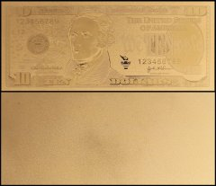 United States of America - USA 10 Dollars, Novelty / Fantasy Gold, President Alexander Hamilton