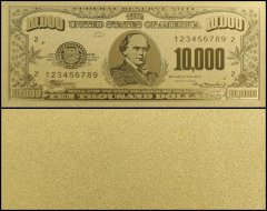 United States of America - USA 10,000 Dollars, Series 1928, Novelty / Fantasy Gold, Salmon P. Chase
