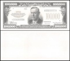 United States of America - USA 100,000 Dollars Novelty / Fantasy, 1934, UNC, U.S President Woodrow Wilson