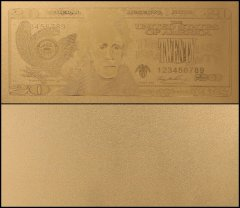 United States of America - USA 20 Dollars, Series 2006, Novelty / Fantasy Gold, President Andrew Jackson