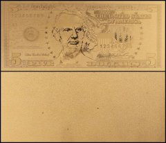 United States of America - USA 5 Dollars, Series 2006, Novelty / Fantasy Gold, President Abraham Lincoln