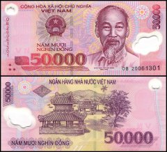 Vietnam 50,000 Dong Banknote, 2020, P-121n, UNC, Polymer