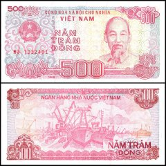 Vietnam 500 Dong Banknote, 1988, P-101a, UNC