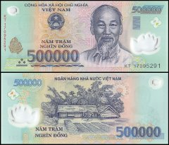 Vietnam 500,000 Dong Banknote, 2017, P-124m, Polymer, UNC