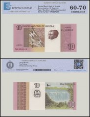 Angola 10 Kwanzas Banknote, 2012, P-151B, UNC, TAP 60 - 70 Authenticated