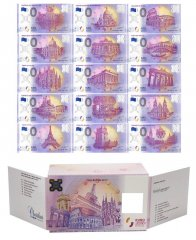 Zero Euro 15 Piece Full Set, 2017, UNC, Polymer Banknote w/ Matching Serial Set