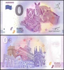 Zero Euro Europe Banknote, 2017, 1st Print, UNC, Kizoodo in Germany