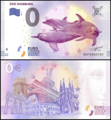 Zero Euro Europe Banknote, 2017, 5th Print, UNC, Duisburg in Germany