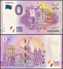 Zero Euro Europe Banknote, 2018-29SN - 29th Print UNC, Senegal, Touba, FIFA World Cup