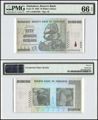 Zimababwe 50 Million Dollars, 2008, P-79, PMG 66