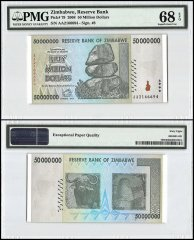 Zimababwe 50 Million Dollars, 2008, P-79, PMG 68