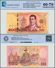 Thailand 100 Baht Banknote, 2020, P-140, UNC, TAP 60-70 Authenticated