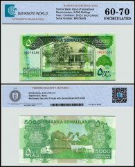Somaliland 5,000 Shillings Banknote, 2015, P-21c, UNC, TAP 60-70 Authenticated