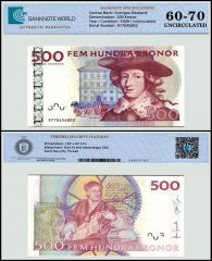 Sweden 500 Kronor Banknote, 2009, P-66c, UNC, TAP 60 - 70 Authenticated