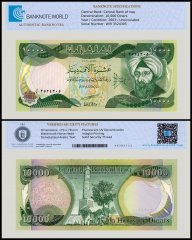 Iraq 10,000 Dinar Banknote, 2003, P-95a, UNC, TAP Authenticated