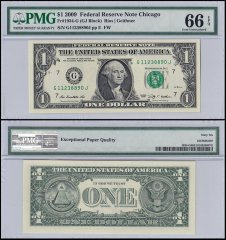 United States of America (USA) $1 Dollar, 2009, P-UNL, PMG 66