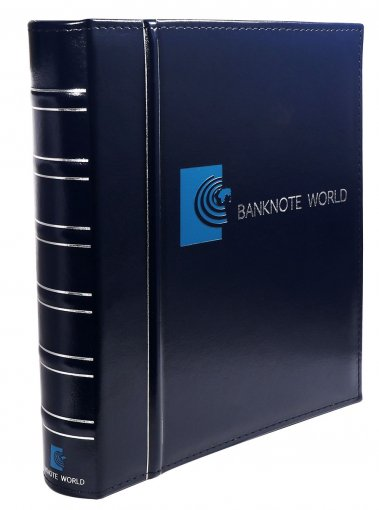 Banknote World Banknote Album, Currency Collecting, 3 Ring, Blue