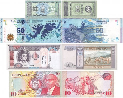 Summer Stallion Collection, 8 Piece Banknote Set, UNC