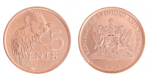 Trinidad & Tobago 1 - 50 Cents 5 Pieces - PCS, Coin Set, 2012, KM # 29-33, Mint