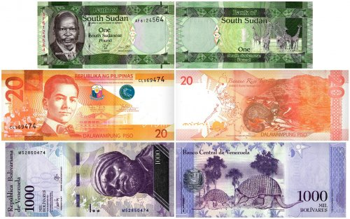 Kingdom Animalia Collection, 5 Piece Banknote Set, UNC