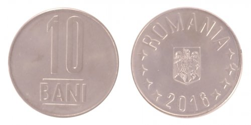 Romania 1 - 50 Bani, 4 Piece Full Coin Set, 2015-16, KM # 189 - 192, Mint