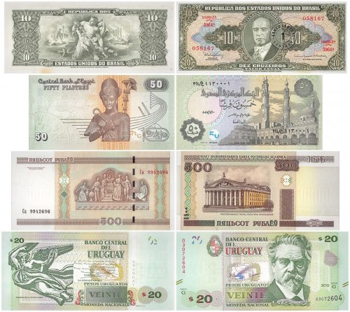 Set in Stone Collection, 11 Piece Banknote Set, UNC
