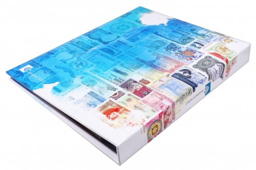 "Banknote World Currency Collecting Album with 103 pockets (Banknotes sold separately) Dimensions:  9.75"" L x 1.5"" W x 12"" H"
