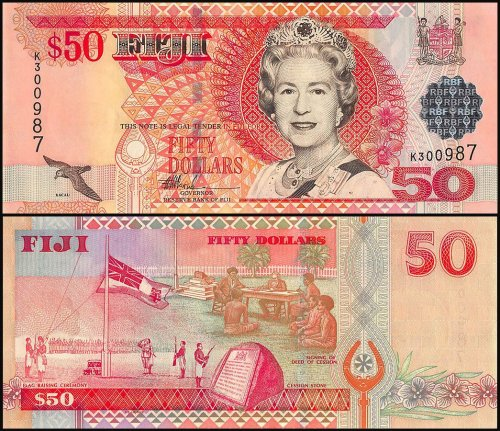 Fiji 2 - 50 Dollars 5 Piece Set, 2002, P-104-108a, UNC
