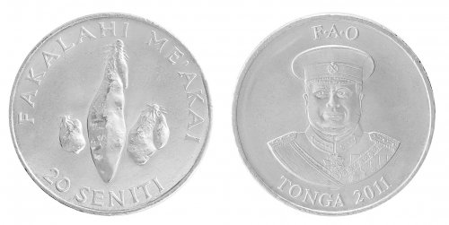 Tonga 1 - 50 Seniti, 6 Piece Coin Set, 1981-2013, KM # 66a-71, Mint, UNC