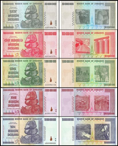 Venezuela Bolivares - Zimbabwe Dollars 50 Pieces - PCS Set, 2006 - 2018, USED