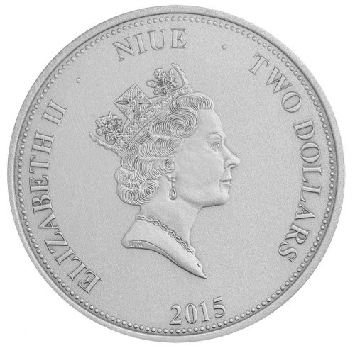 Niue 2 Dollars 1oz Silver Coin, 2015, Mint