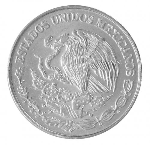 Mexico 50 Centavos 3.10g Stainless Steel Coin, 2013, KM # 936, Golden Eagle