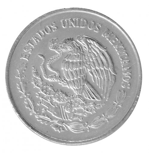 Mexico 5 Centavos 1.58g Stainless Steel Coin, 2002, KM # 546, Golden Eagle